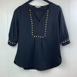 41 HAWTHORN | Moni Stud Detail 3/4 Sleeve Blouse-M